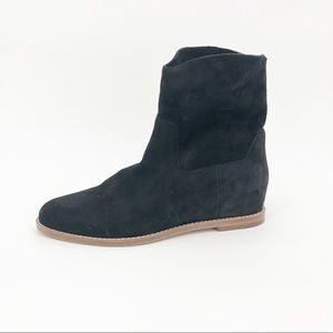 COPY - Vince Sinclair Booties Hidden Wedge Suede …